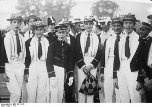 Alumnos del Eton College en 1932, pocos años después de la visita de Rubén Landa