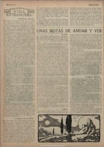 Articulo de José Ortega y Gasset en el semanario España de 23 de septiembre de 1915