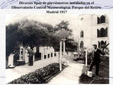 Pluviómetros del Observatorio Central Meteorológico de Madrid