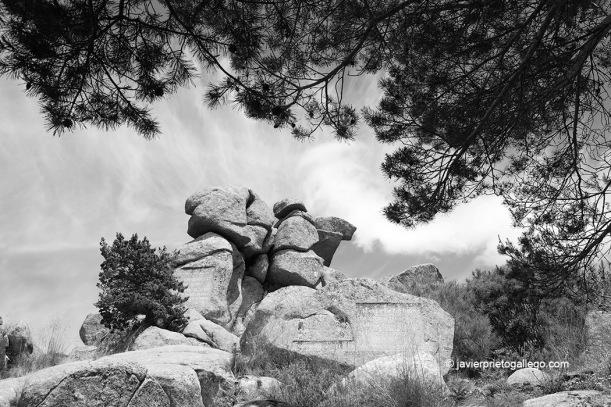 Peña del Arcipreste. Monumento al Arcipreste de Hita. Monumento Natural de Interés Nacional. Sierra de Guadarrama. Madrid. España.